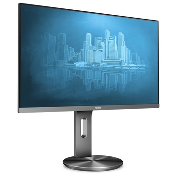 """AOC U2790PQU 27"""" 4K Ultra HD LED 60Hz Nero, Titanio"""