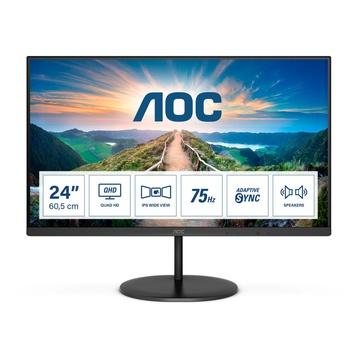 "AOC Value-line Q24V4EA LED 23.8"" 2K Ultra HD 75hz Nero"
