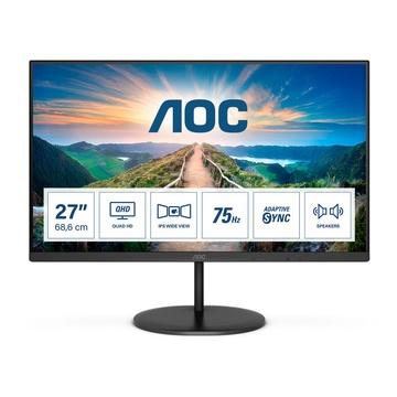 "AOC Value-line Q27V4EA LED 27"" 2K Ultra HD 75hz Nero"