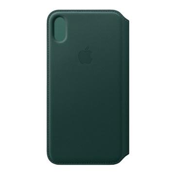 Iphone xs max cuoio folio forest verde