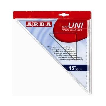 Arda Squadra 45° 30 cm Linea Uni Polistirolo Trasparente