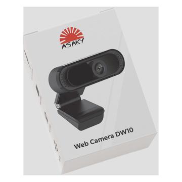 Asaky AS- 10 Webcam USB2.0 1080p HD Nero e microfono integrato