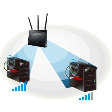 Asus PCE-AC68 Dual Band Wireless AC1900 Adattatore PCI-E 802.11ac
