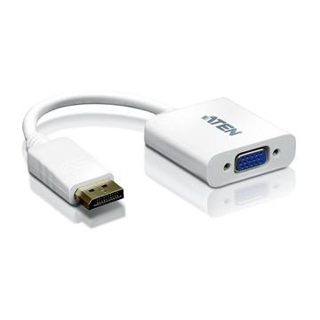 ATEN Displayport/VGA adapter DisplayPort Male VGA HDB-15 Female Bianco