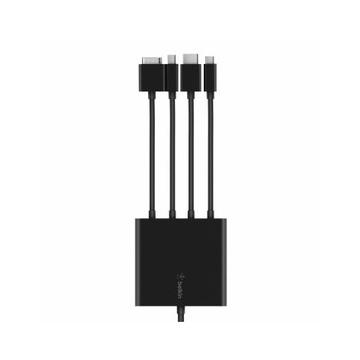 Belkin B2B166 Cavo VGA/Mini DisplayPort/HDMI/USB-C HDMI/USB-A Nero