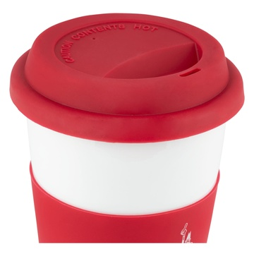 Bialetti Take Away Tazza Universale Rosso, Bianco 0,3 L