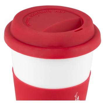 Bialetti Take Away Tazza Universale Rosso, Bianco 0,4 L
