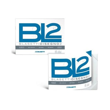 Blasetti BL2 carta da disegno Aspro 20 fogli