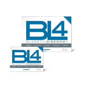 Blasetti BL4 carta da disegno Liscio 20 fogli 6177