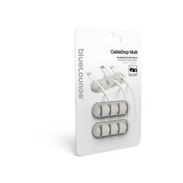Bluelounge CableDrop Multi Supporto per cavo Scrivania Bianco
