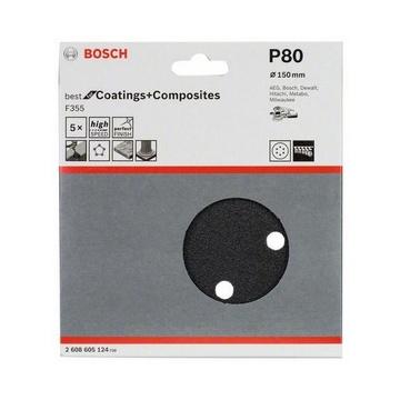 Bosch 2 608 605 124 accessorio per levigatrici Disco abrasivo 5 pezzo(i)