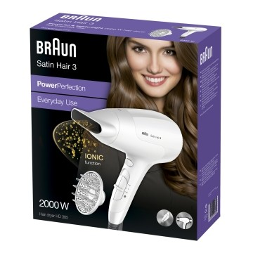 Braun satino Hair 3 HD 385 Power Perfection + Diffusor