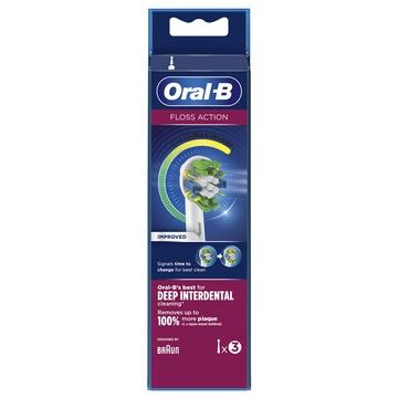 Braun Oral-B FlossAction 80338476 testina per spazzolino 3 pezzo(i) Bianco