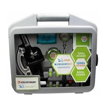 Celestron Kit microscopio in valigetta, Include kit di vetrini pronti e set strumenti
