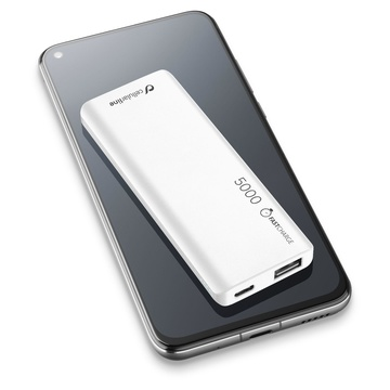Cellular Line FreePower Slim 5000 Universale Bianco
