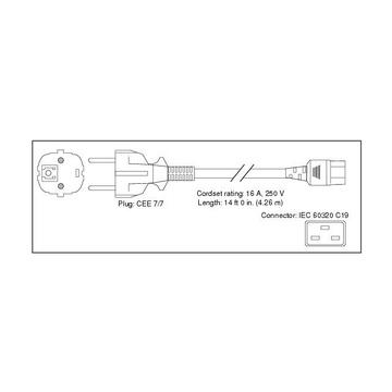 Cisco CAB-AC-2500W-EU= cavo di alimentazione Nero 4,26 m CEE7/7 Accoppiatore C19