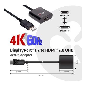 Club3D ADATTATORE DP-HDMI 2.0 4K 60HZ
