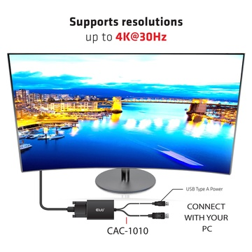 Club3D cac-1010 Displayport/usb DVI-I Dual link Nero, Bianco