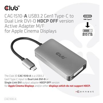 Club3D CAC-1510-A cavo e adattatore video USB tipo-C DVI