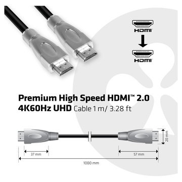 Club3D CAVO HDMI 2.0 MASCHIO TO HDMI 2.0 MASCHIO HIGH SPEED 4K UHD 1M
