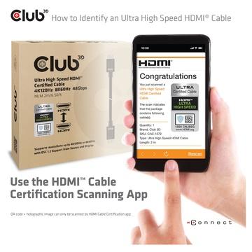 Club3D HDMI 2.1 Ultra High Speed 10K 120HZ 1.5 Metri