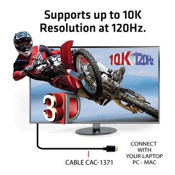 Club3D HDMI 2.1 Ultra high Speed 10K 120HZ 1 Metro