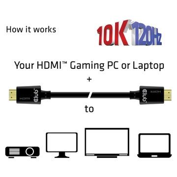 Club3D HDMI 2.1 Ultra High Speed 10K 120HZ 3 Metri