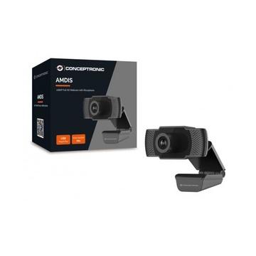 CONCEPTRONIC Amdis webcam 2 MP 1920 x 1080 Pixel USB 2.0 Nero