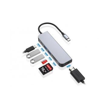 CONCEPTRONIC DONN02G hub di interfaccia USB 3.2 Gen 1 (3.1 Gen 1) Type-C 5000 Mbit/s Alluminio