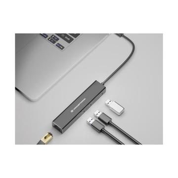 CONCEPTRONIC DONN07B hub di interfaccia USB 3.2 Gen 1 (3.1 Gen 1) Type-C 5000 Mbit/s Nero