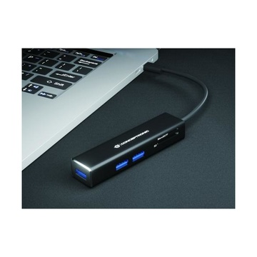 CONCEPTRONIC DONN08B hub di interfaccia USB 3.2 Gen 1 (3.1 Gen 1) Type-C 5000 Mbit/s Nero