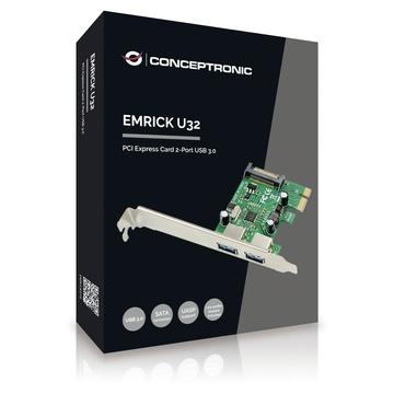 CONCEPTRONIC EMRICK01G scheda di interfaccia e adattatore USB 3.0 Interno