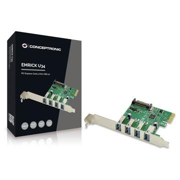 CONCEPTRONIC EMRICK02G scheda di interfaccia e adattatore USB 3.0 Interno