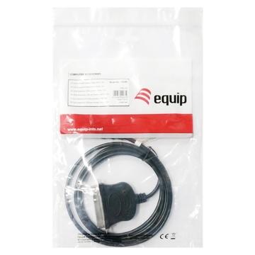CONCEPTRONIC Equip 133383 cavo di interfaccia e adattatore USB 2.0 IEEE1284 Nero