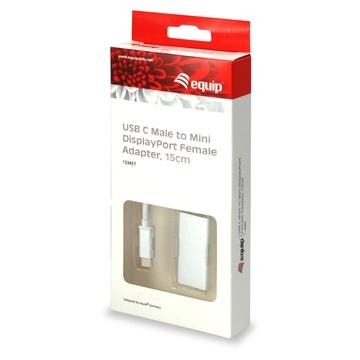 CONCEPTRONIC Equip 133457 cavo di interfaccia e adattatore USB Type C Mini DisplayPort Bianco