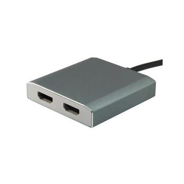 CONCEPTRONIC Equip 133464 adattatore grafico USB 4096 x 2160 Pixel Grigio