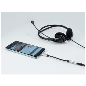 CONCEPTRONIC Equip 133474 cavo di interfaccia e adattatore USB-C 3,5 mm Nero, Argento