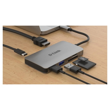 D-Link DUB-M610 Replicatore e Docking Station Cablato USB 3.2 Gen 1 Alluminio, Nero