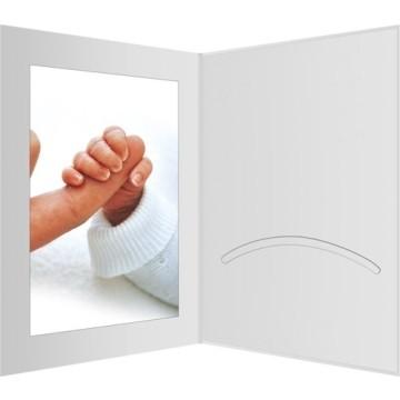 Daiber GmbH 1x100 Portraitmappen m. Passepartout 15x20 Bianco