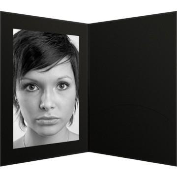 Daiber GmbH 1x100 Portraitmappen m. Passepartout 15x20 Nero