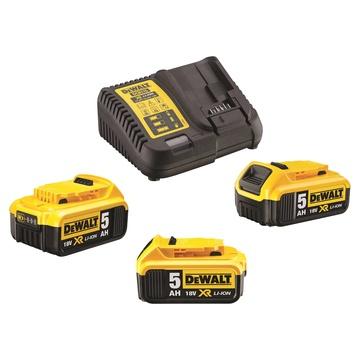 DeWalt DCB115P3 Kit 3 batterie 18 V 5 Ah + caricabatteria