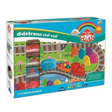 Dido FILA Pasta da modellare Didò Treno Ciuf Ciuf. Confezione 10 pezzi + Accessori