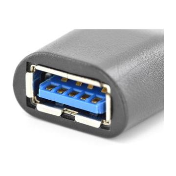 Digitus ASSMANN Electronic AK-300506-000-S cavo di interfaccia e adattatore USB C USB A Nero