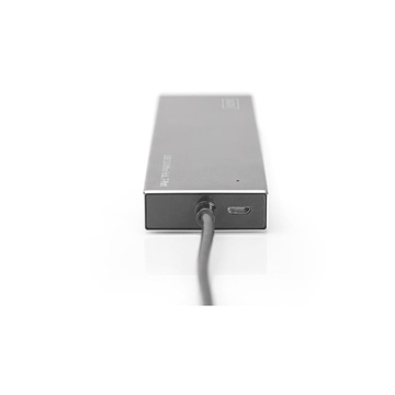 Digitus DA-70241-1 hub di interfaccia USB 3.2 Gen 1 (3.1 Gen 1) Type-A 5000 Mbit/s Grigio