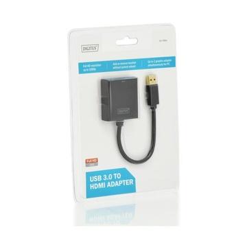 Digitus DA-70841 USB 3.0 HDMI Nero cavo di interfaccia e adattatore