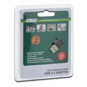 Digitus DN-70542 WLAN 300Mbit/s scheda di rete e adattatore