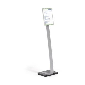 Durable INFO SIGN Stand informativo A4 Acrilico, Alluminio Argento