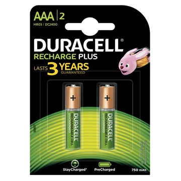 Duracell Recharge Plus Batteria ricaricabile Mini Stilo AAA 1,2V