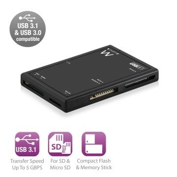 EWENT EW1074 Lettore di Schede di Memoria USB 3.1