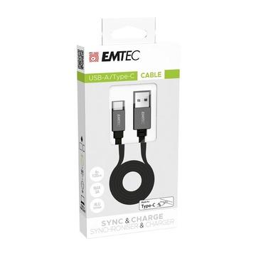 EMTEC ECCHAT700TCU3 cavo USB 1,2 m 3.2 Gen 2 (3.1 Gen 2) USB A USB C Nero